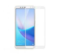 Защитное стекло для Huawei Y5 Prime 2018 3D белое
