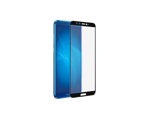 Защитное стекло для Honor 9 Lite (вид - 5D полная проклейка, черная рамка, комплектация эконом)