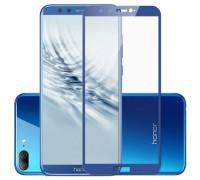 Защитное стекло для Honor 9 Lite 5D синее