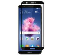 Защитное стекло для Huawei P Smart (вид - 5D полная проклейка, черная рамка, комплектация эконом)