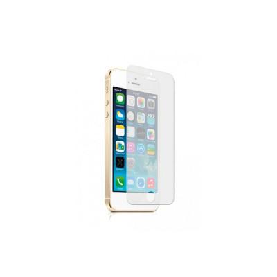 Защитное стекло для iPhone SE (вид - 2.5D, комплектация эконом)
