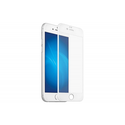 Защитное стекло для iPhone 6/6S 5D белое