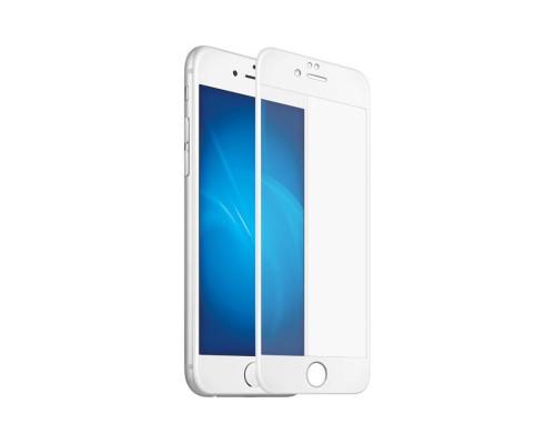 Защитное стекло для iPhone 6S 6D белое