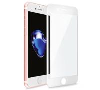 Защитное стекло для iPhone 8 Plus (вид - 5D полная проклейка, белая рамка, комплектация эконом)