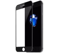 Защитное стекло для iPhone 8 Plus (вид - 5D полная проклейка, черная рамка, комплектация эконом)