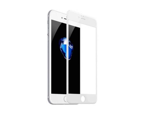 Защитное стекло для iPhone 8 6D белое