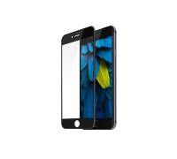 Защитное стекло для iPhone 8 (вид - 3D, черная рамка, комплектация эконом)