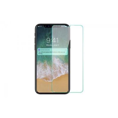 Защитное стекло для iPhone X (вид - 2.5D, комплектация эконом)