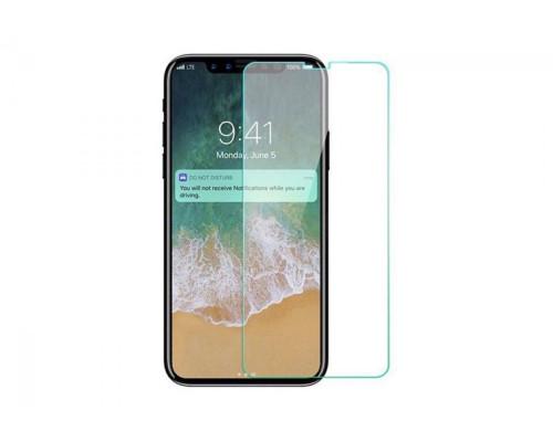 Защитное стекло для iPhone XS (вид - 2.5D, комплектация эконом)
