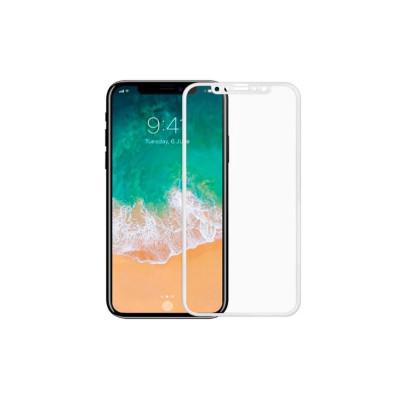 Защитное стекло для iPhone X 6D белое