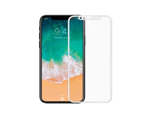 Защитное стекло для iPhone XS 5D белое