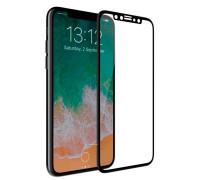 Защитное стекло для iPhone X 5D черное