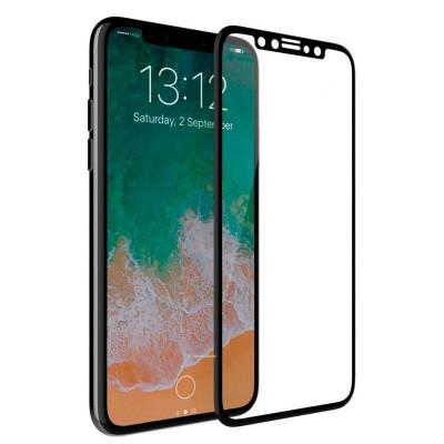Защитное стекло для iPhone XS 5D черное
