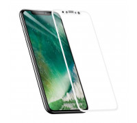 Защитное стекло для iPhone XR 5D белое