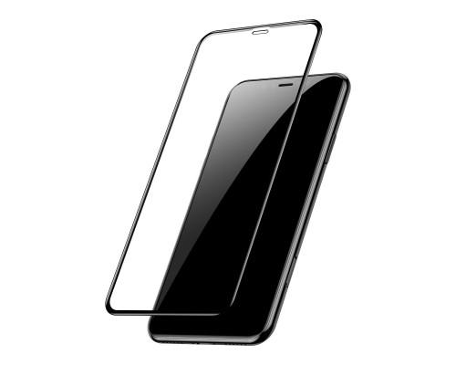 Защитное стекло для iPhone XR 6D черное