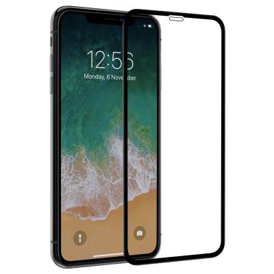 Защитное стекло для iPhone XS Max 10D черное
