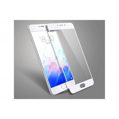 Защитное стекло для Meizu M3s 3D белое