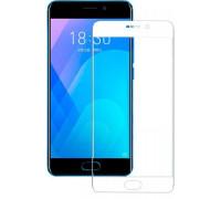 Защитное стекло для Meizu M6 Note 3D белое
