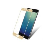 Защитное стекло для Meizu M6 3D золотое