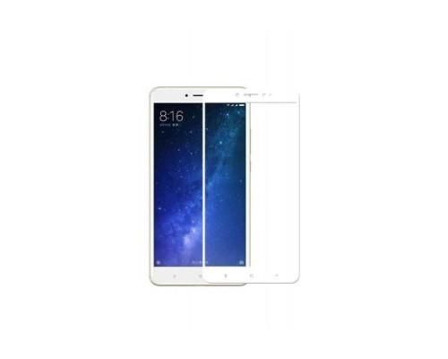 Защитное стекло для Xiaomi Mi Max 2 5D белое