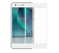 Защитное стекло для Nokia 2 3D белое