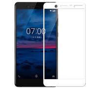 Защитное стекло для Nokia 7 3D Белое