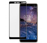 Защитное стекло для Nokia 7 3D черное