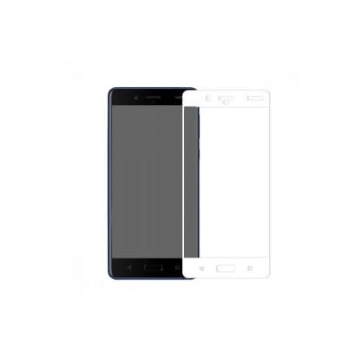 Защитное стекло для Nokia 8 3D белое