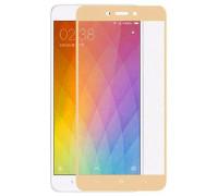 Защитное стекло для Xiaomi Redmi 4А 3D золото