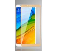 Защитное стекло для Xiaomi Redmi 5 Plus 3D Золотое