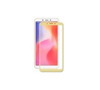 Защитное стекло для Xiaomi Redmi 6 3D золотое