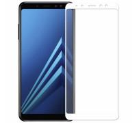 Защитное стекло для Samsung Galaxy J8 2018 3D белое