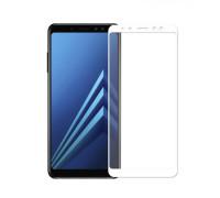 Защитное стекло для Samsung Galaxy A6 Plus 2018 5D белое