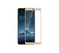 Защитное стекло для Samsung Galaxy A8 Plus 2018 3D золотое