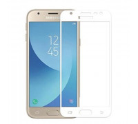 Защитное стекло для Samsung Galaxy J3 2016 5D белое