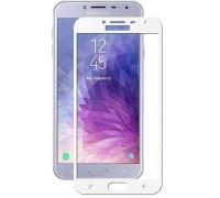 Защитное стекло для Samsung Galaxy J4 2018 5D белое