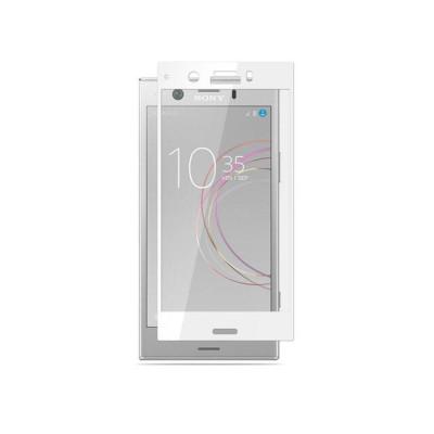 Защитное стекло для Sony Xperia XZ1 3D белое