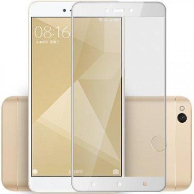 Защитное стекло для Xiaomi Redmi 4X 5D полная проклейка белое