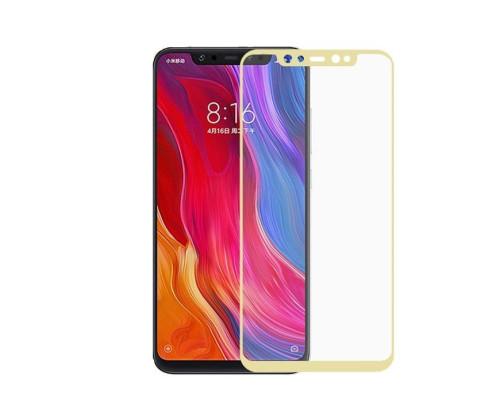 Защитное стекло для Xiaomi Mi8 SE 3D золотое