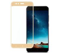Защитное стекло для Xiaomi Mi5X 3D золотое
