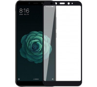 Защитное стекло для Xiaomi Mi A2 5D полная проклейка, черный