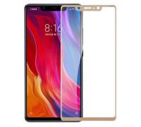 Защитное стекло для Xiaomi Mi8 3D золотое