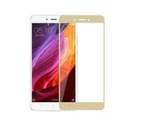 Защитное стекло для Xiaomi Redmi Note 4X 3D золотое