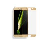 Защитное стекло для Samsung Galaxy A3 2017 3D золото