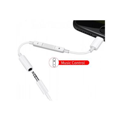 Переходник iPhone Lightning на Jack 3.5 мм с контролем громкости