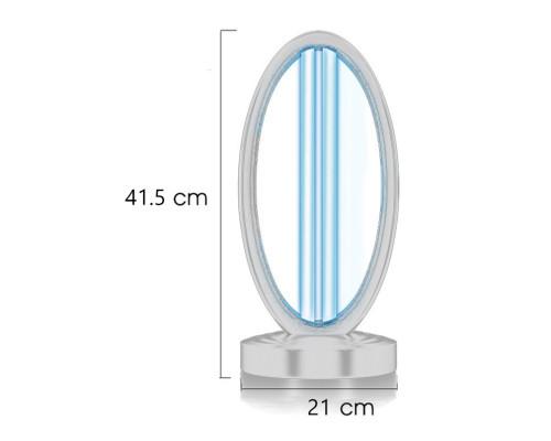 Лампа бактерицидная ультрафиолетовая УРМ-02 кварцевая, 38W до 40м2, белая