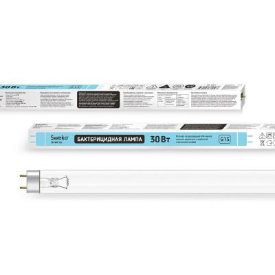 Лампа ультрафиолетовая бактерицидная Sweko 30W (Вт) G13 трубчатая Т8 SSL UVC (38956)