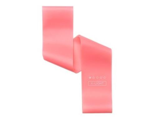 Резинка для фитнеса (эспандер мини-петля) нежно-розовая, силикон, нагрузка 2-4 кг, 1 шт, 30х5см