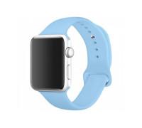 Ремешок для Apple Watch 42-44 мм силиконовый голубой