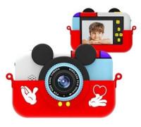"""Детский развивающий цифровой фотоаппарат """"Children's fun Camera: Mickey"""", с селфи-камерой, красный"""